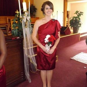 Burgundy Bridesmaids Dress from David's Bridal